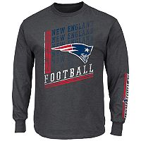 Big & Tall Majestic New England Patriots Two Hits Tee