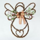 Gerson Artificial Pine & Berries Angel Wreath