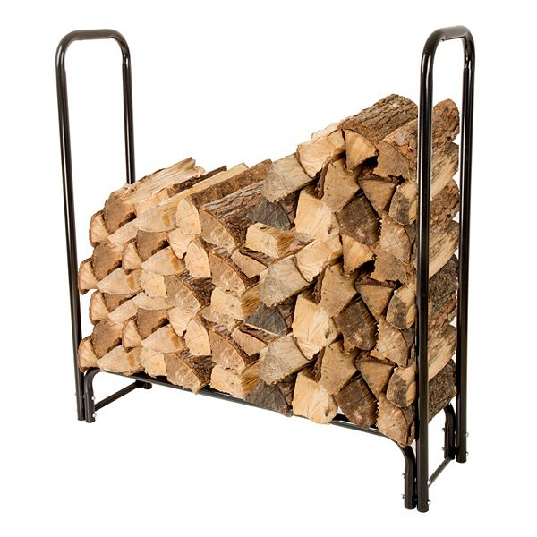 Navarro 4 Ft Outdoor Log Rack, Outdoor Log Rack
