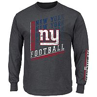 Big & Tall Majestic New York Giants Two Hits Tee