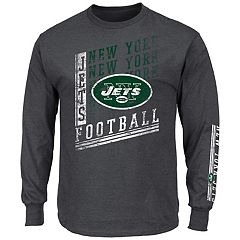 Big & Tall Majestic New York Jets Two Hits Tee