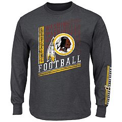 Big & Tall Majestic Washington Redskins Two Hits Tee