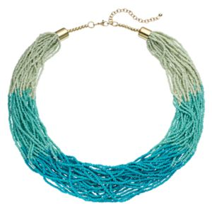 Ombre Seed Bead Multi Strand Necklace