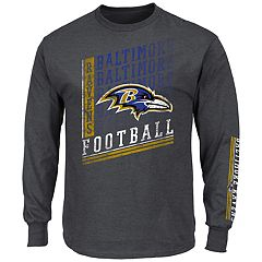 Big & Tall Majestic Baltimore Ravens Two Hits Tee