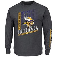 Big & Tall Majestic Minnesota Vikings Two Hits Tee