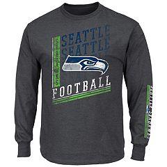 Big & Tall Majestic Seattle Seahawks Two Hits Tee