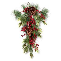 Gerson Artificial Berry & Pinecone Wall Decor