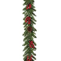 Gerson Woodland Pinecone & Artificial Berry Garland