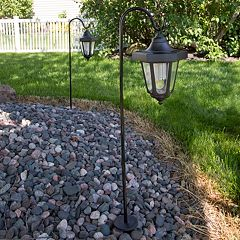 Navarro Outdoor Solar LED Lantern Garden Stake 2 pc Set