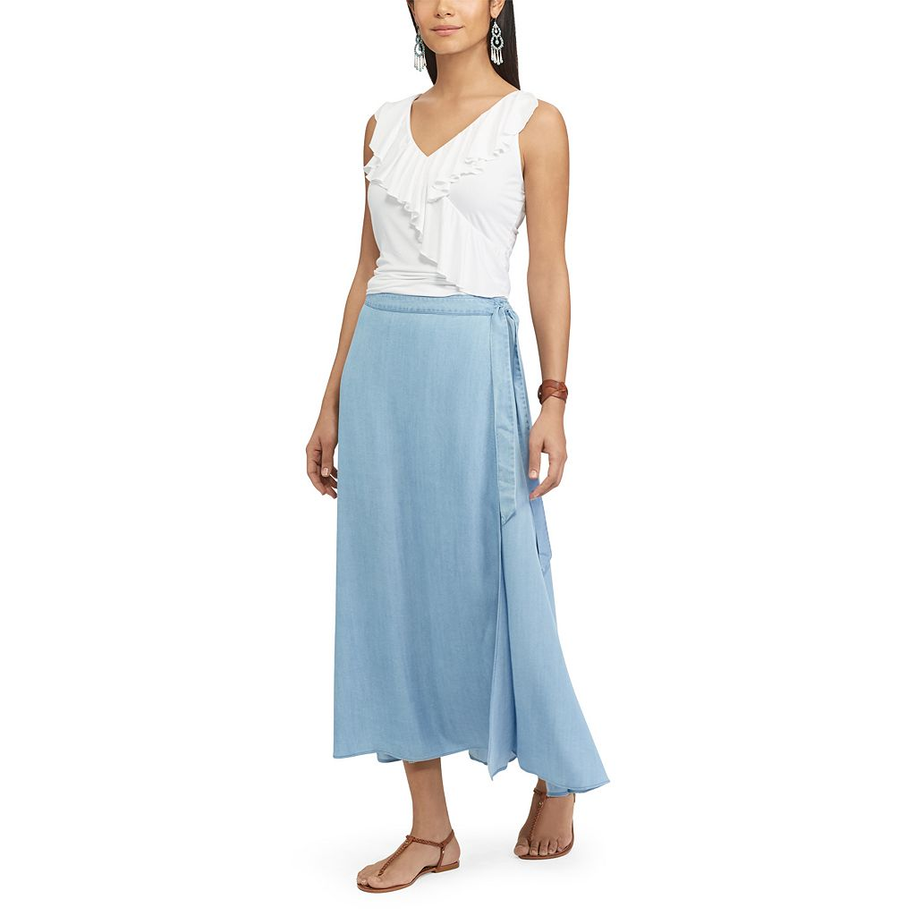 Women's Chaps Wrap Maxi Skirt