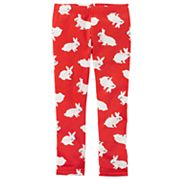 Toddler Girl Carter's Bunny Rabbit Fleece Lined Leggings