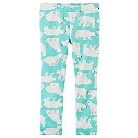 Toddler Girl Carter's Fleece Lined Polar Bear Leggings