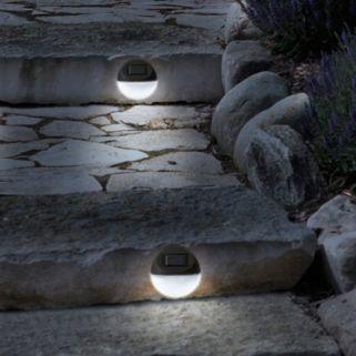 Navarro Outdoor Round Solar LED Path Light 4-piece Set