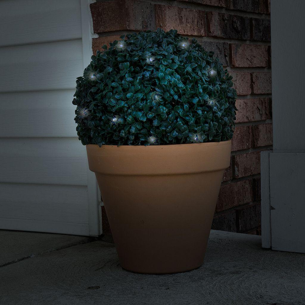 Navarro Topiary Solar Light Ball Outdoor Decor