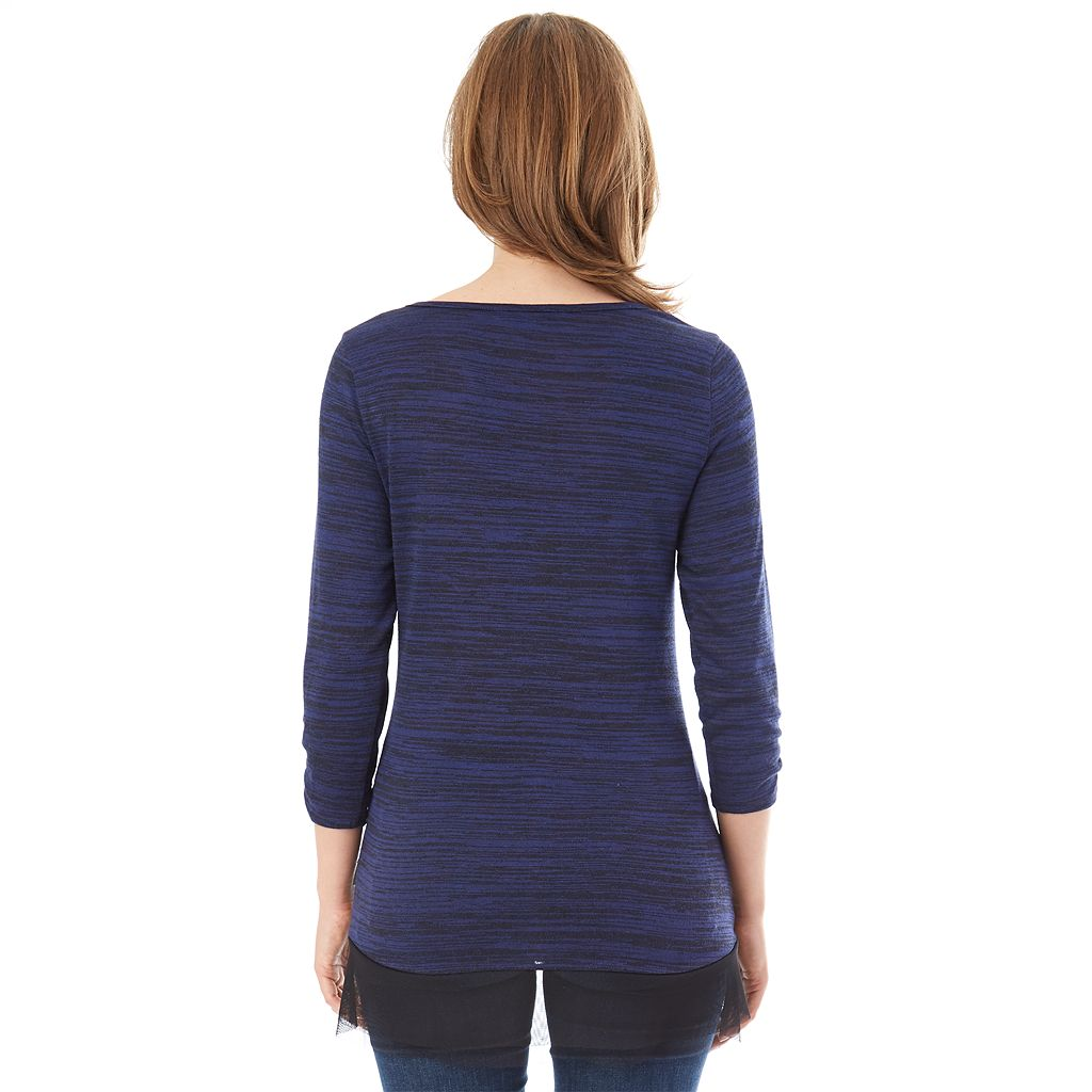 Women's Apt. 9® Asymmetrical Chiffon Top