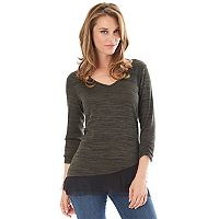 Women's Apt. 9® Asymmetrical Chiffon Top