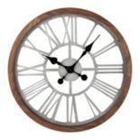 Gerson Round Pine Wall Clock