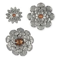 Gerson Steel Flower Wall Decor 3-piece Set