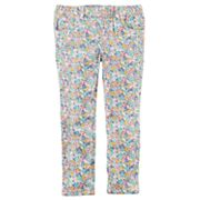 Toddler Girl Carter's Floral Print Twill Pants