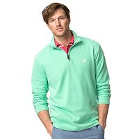 Big & Tall Chaps Classic-Fit Ribbed Quarter-Zip Mockneck Pullover