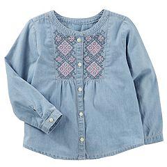 Girls 4-12 OshKosh B'gosh® Embroidered Buttonfront Top