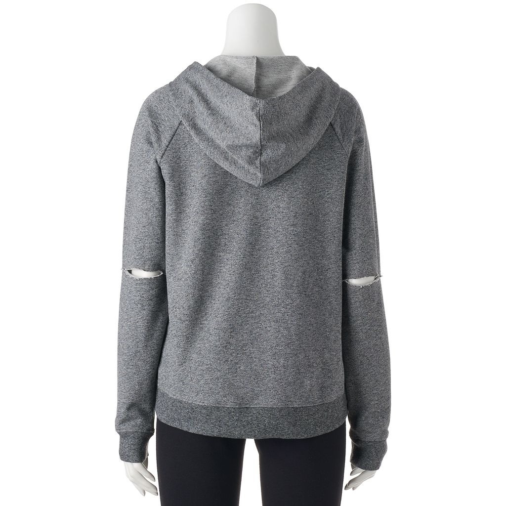 Juniors' SO® Perfectly Soft Elbow Cutout Hoodie