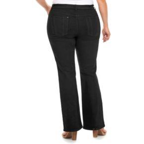 Plus Size Jennifer Lopez Black Bootcut Jeans