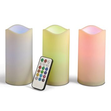 Gerson Indoor / Outdoor LED Pillar Candle 4-piece Set