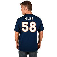 Big & Tall Majestic Denver Broncos Von Miller Name and Number Tee