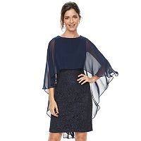 Women's Jessica Howard Lace Capelet Sheath Dress