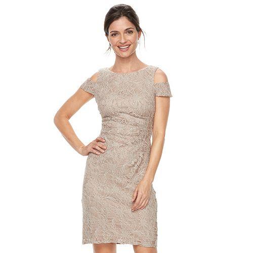 372f874e294f Women's Jessica Howard Lace Cold-Shoulder Sheath Dress