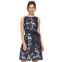 Women's Jessica Howard Floral Illusion A-line Dress