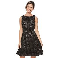 Women's Jessica Howard Lace Overlay Fit & Flare Dress