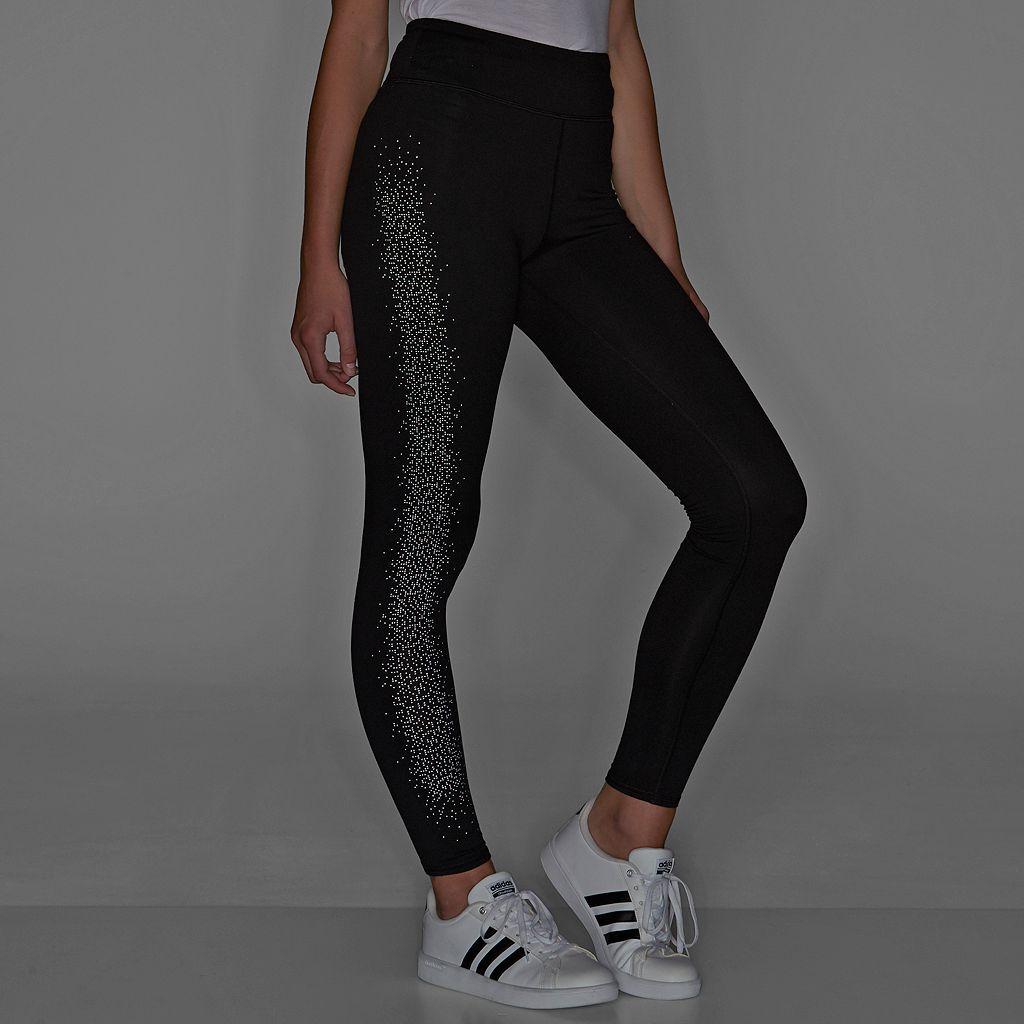 Juniors' SO® Reflective Print Leggings