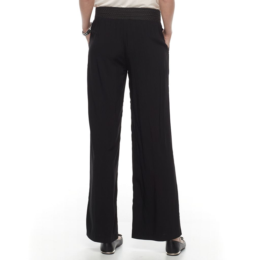 Women's Dana Buchman Challis Wide-Leg Pants