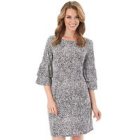 Women's Apt. 9® Print Ruffle Shift Dress