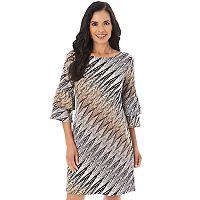 Women's Apt. 9® Print Ruffle Shift Dress
