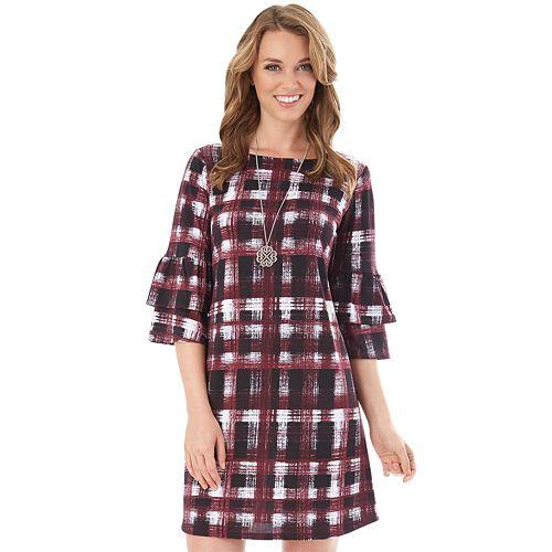 af6e81e7df Women s Apt. 9® Print Ruffle Shift Dress