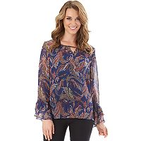 Women's Apt. 9® Print Keyhole Top