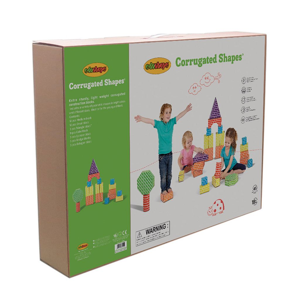 Edushape 45-pc. Corrugated Shapes