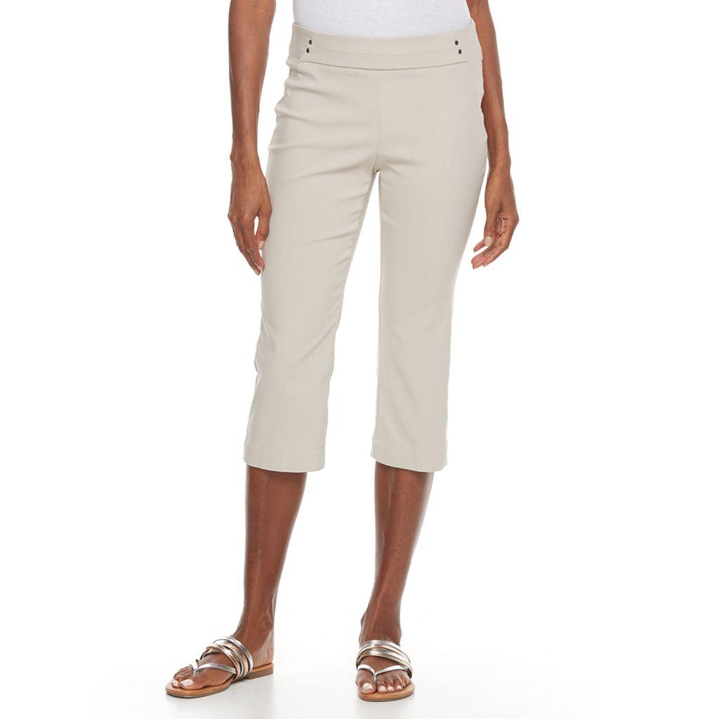 Women's Dana Buchman Embellished Pull-On Capris