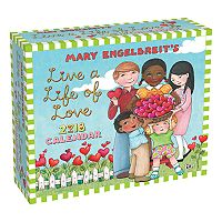 Mary Engelbreit's Live A Life Of Love 2018 Desk Calendar