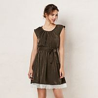 Women's LC Lauren Conrad Lace Pleated Fit & Flare Dress