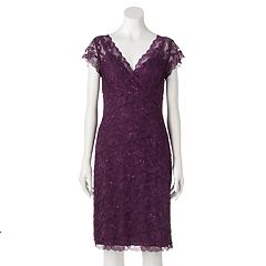 Women's Onyx Nite Embellished Lace Empire Dress