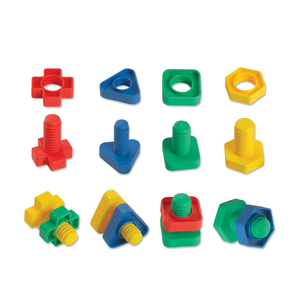 Edushape 48-pc. Ez-Grip Nuts & Bolts