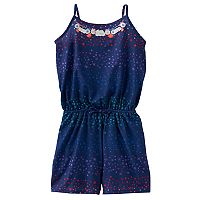 Girls 7-16 & Plus Size SO® Embellished Neck Pattern Romper