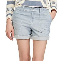 Women's Chaps Striped Jean Shorts