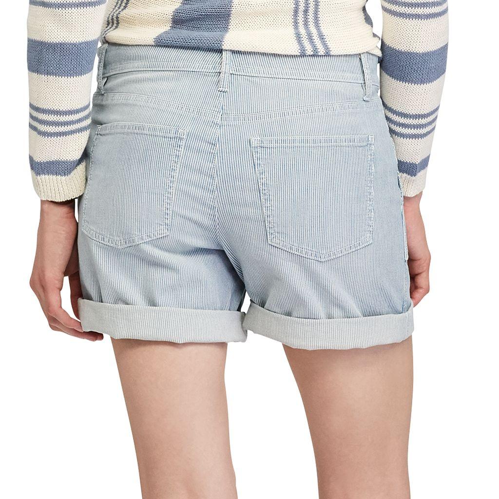 Women's Chaps Striped Jean Shorts