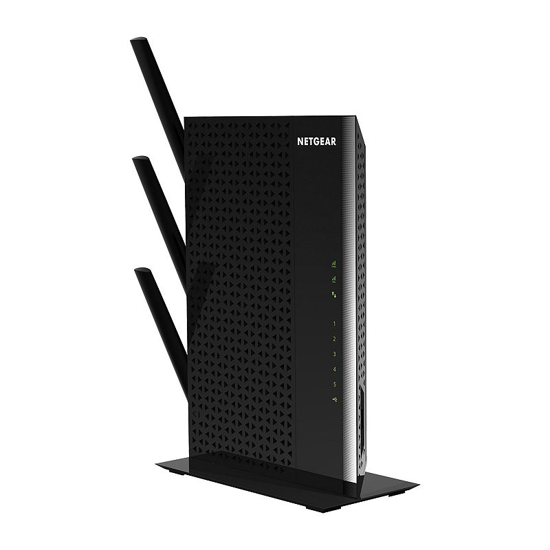 Netgear Nighthawk AC1900 WiFi Range Extender, Black Reliable coverage and rapid streaming are all yours with this Netgear Nighthawk range extender. Boosts your existing network range and speed, delivering extreme dual band Wi-Fi up to 1900Mbps High-power design provides extreme range, while the dual-core 1GHz processor enables maximum Wi-Fi performance Works with any standard Wi-Fi router and is ideal for HD video streaming and gaming External antennae for maximum signal coverage What's Included Range extender Power adapter Stand 3 detachable external antennae 9.9 H x 6.9 W x 1.2 D Weight: 1.44 lbs. Connectors: USB 3.0, 5 110/100/1000 Ethernet ports with auto-sensing technology, Dlna-compatible Digital Media Server (DMS) Wireless: Ieee 802.11 b/g/n 2.4GHz, Ieee 802.11 a/n/ac 5GHz Manufacturer's 1-year limited warrantyFor warranty information please click here For information about the modified return policy, please click here Model no. EX7000-100NAS Size: One Size. Color: Black.