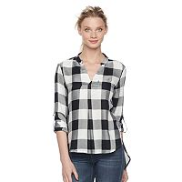 Women's Rock & Republic® Plaid Twill Top